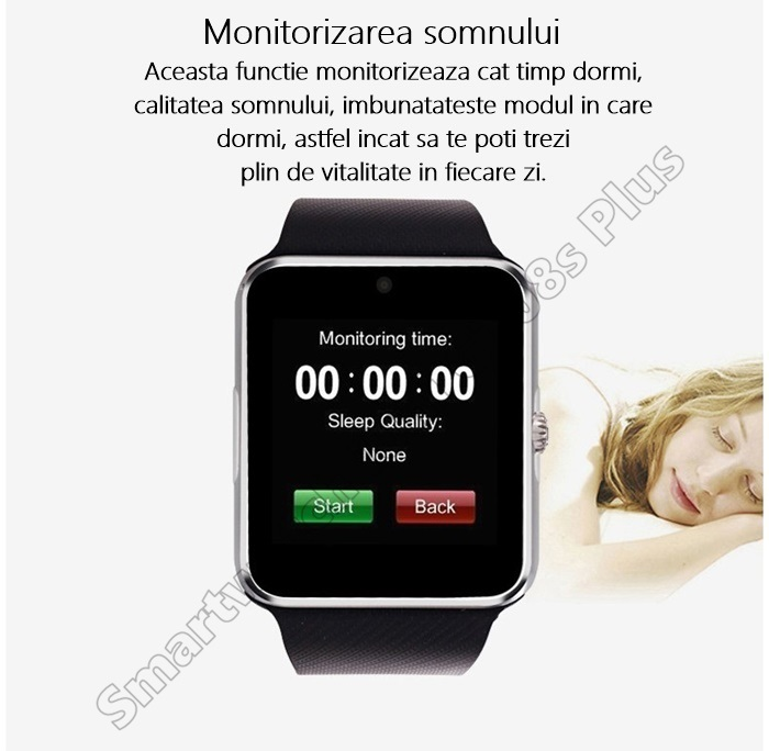 Smartwatch cu Telefon iUni GT08s Plus bluetooth -3