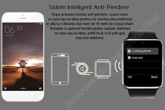 Smartwatch cu Telefon iUni GT08s Plus bluetooth -5