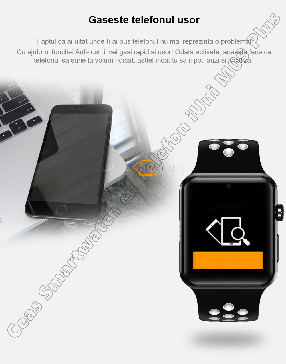 Ceas Smartwatch Telefon iUni DM09 Plus-6