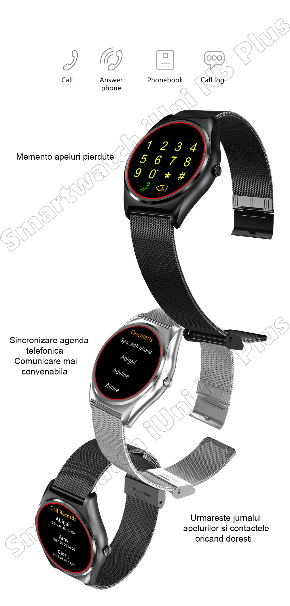 Ceas Smartwatch iUni N3 Plus-28
