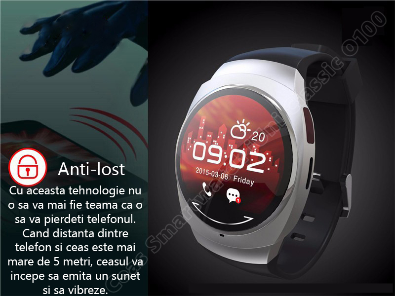 Ceas Smartwatch iUni O100 Bluetooth-6