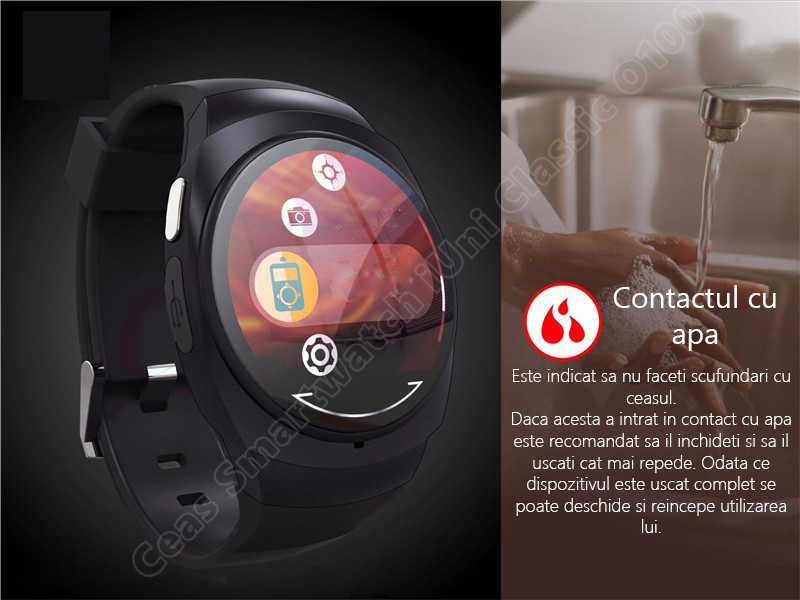 Ceas Smartwatch iUni O100 Bluetooth-1