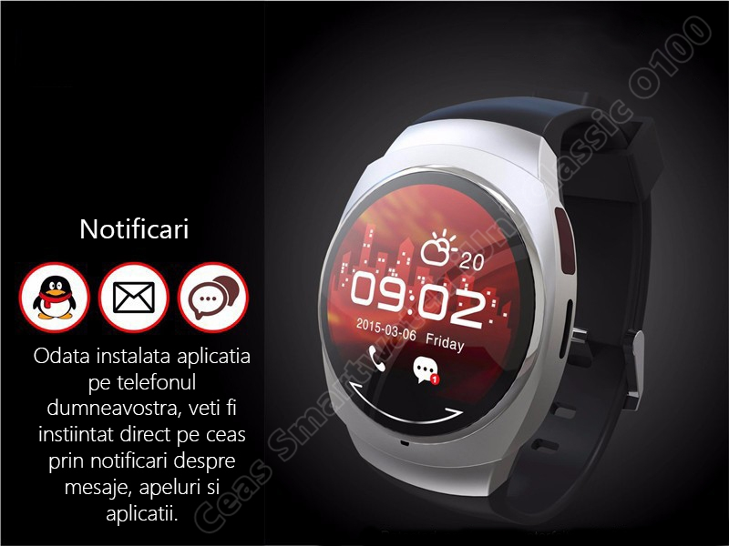 Ceas Smartwatch iUni O100 Bluetooth-3