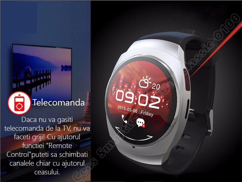 Ceas Smartwatch iUni O100 Bluetooth-2