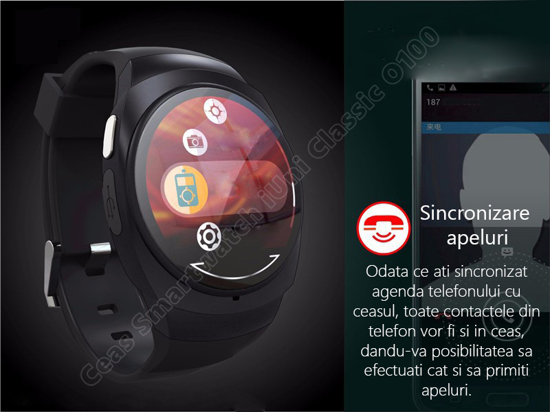 Ceas Smartwatch iUni O100 Bluetooth