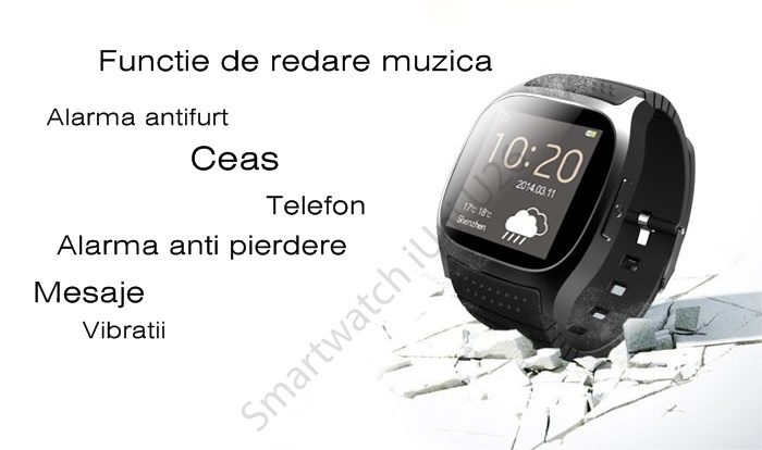 Smartwatch iUni U26 notificari