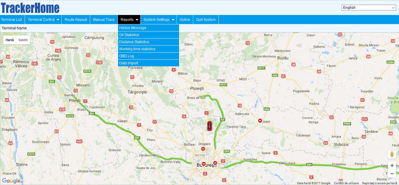 serviciu abonament tracking in timp real online GPS Tracker