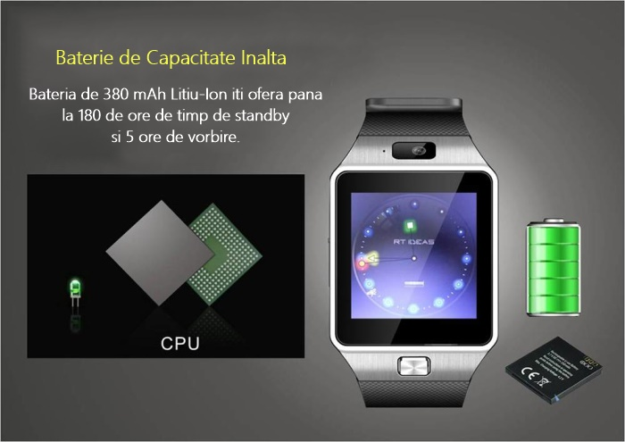 Smartwatch iUni DZ09 Plus notificari