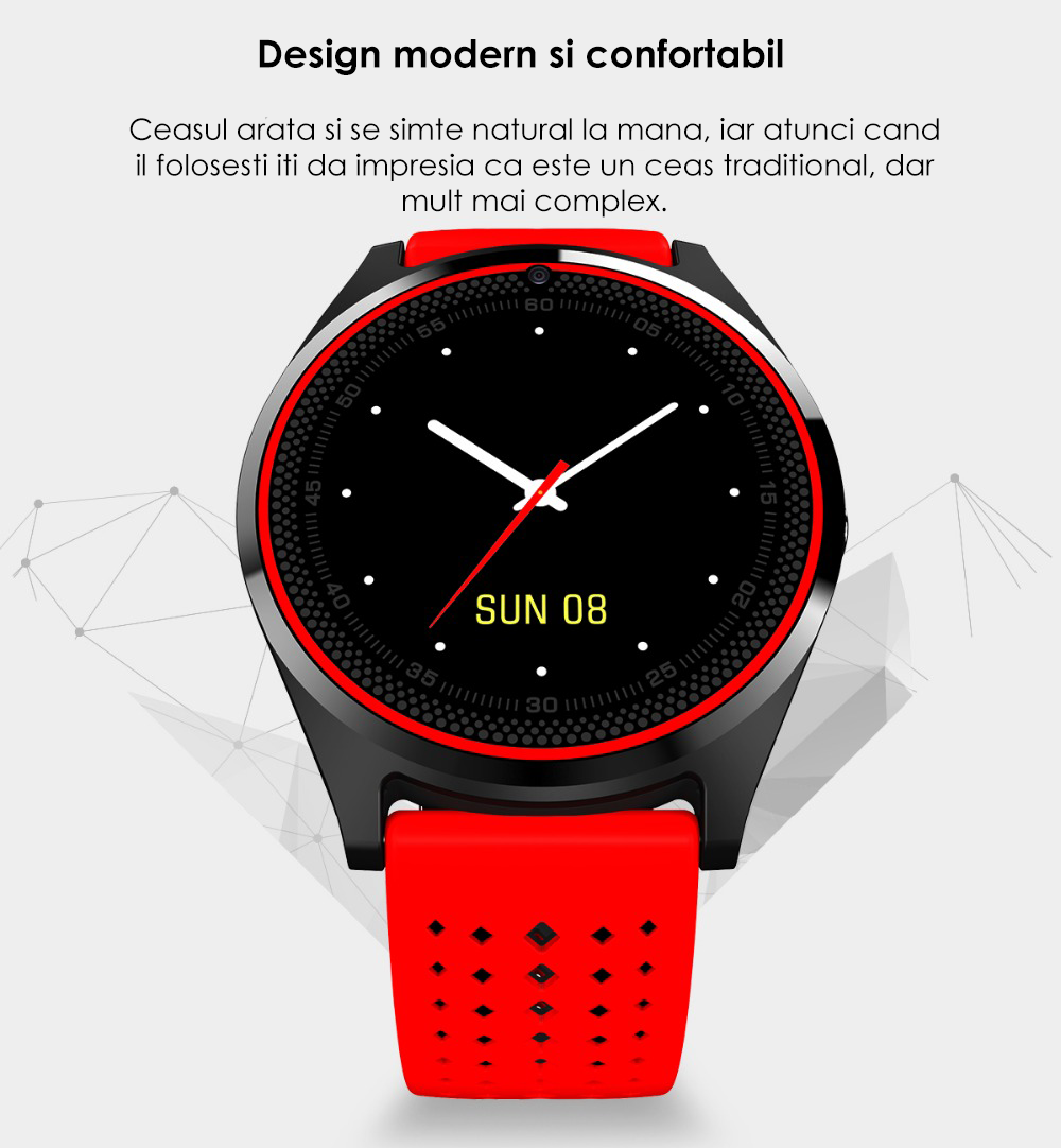 Ceas Smartwatch cu Telefon iUni V9 Plus, Touchscreen, Camera 2MP - 1