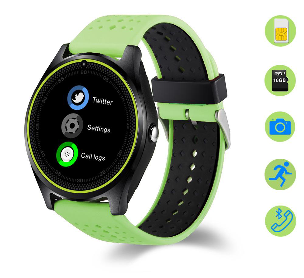 Ceas Smartwatch cu Telefon iUni V9 Plus, Touchscreen, Camera 2MP- 4