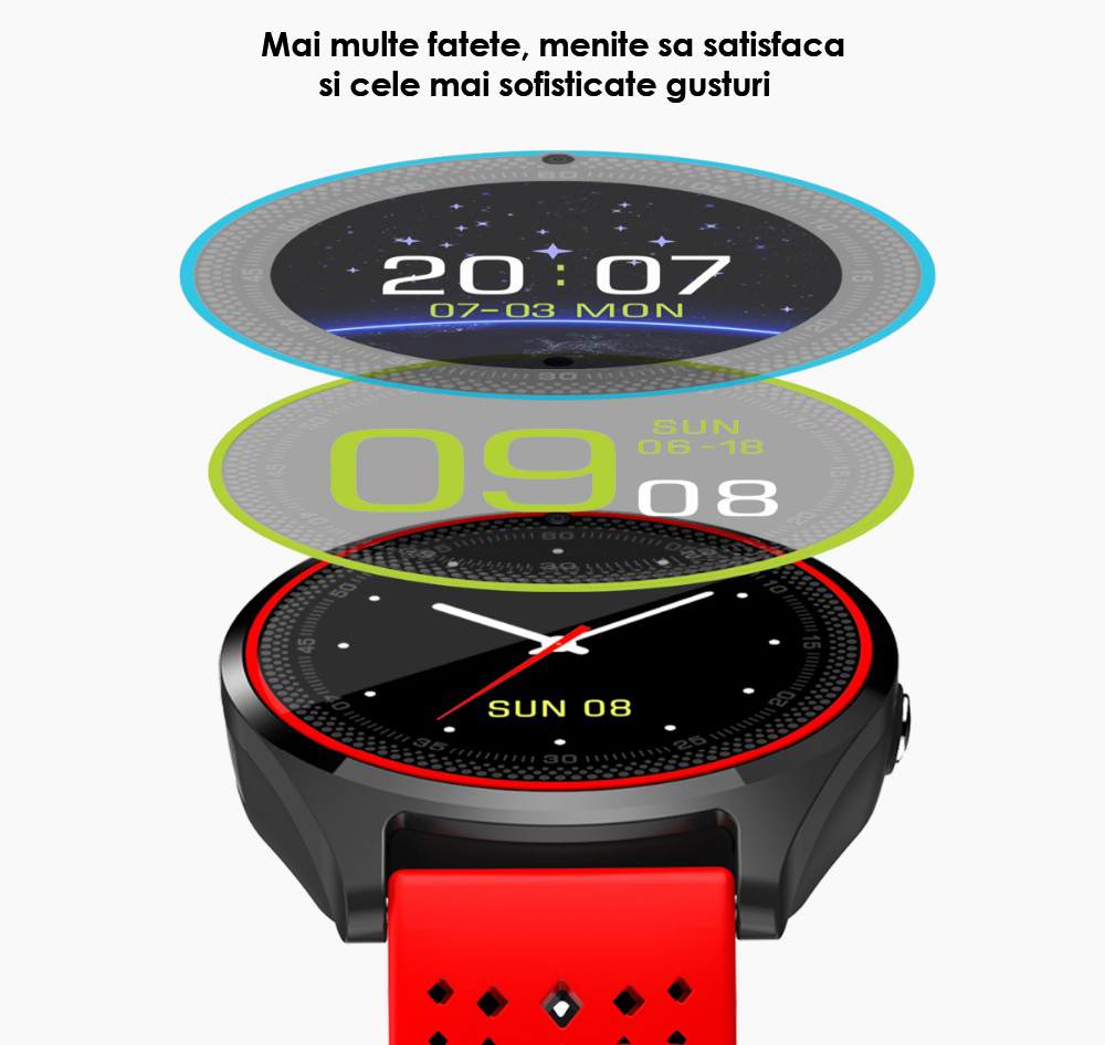 Ceas Smartwatch cu Telefon iUni V9 Plus, Touchscreen, Camera 2MP - 3