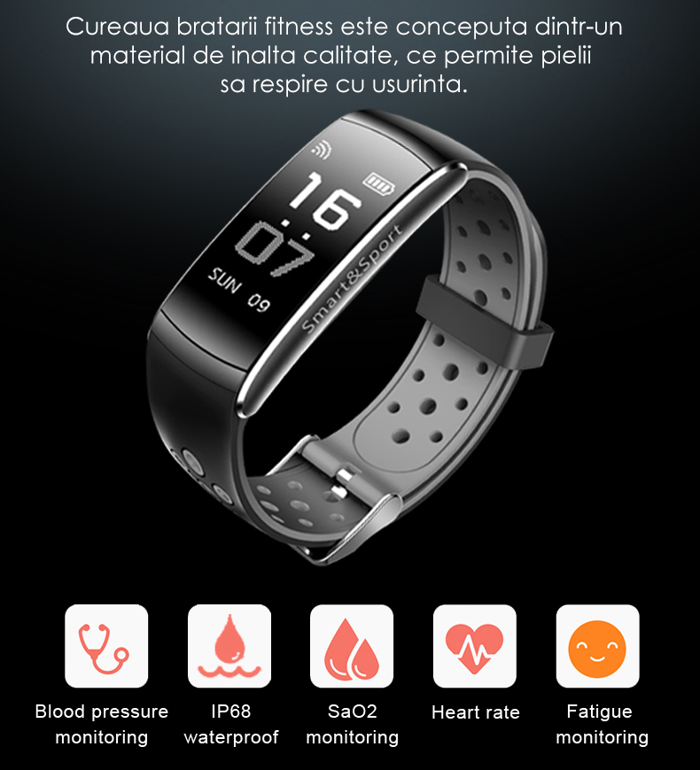 bratara fitness iUni Z11 Plus notificari-3