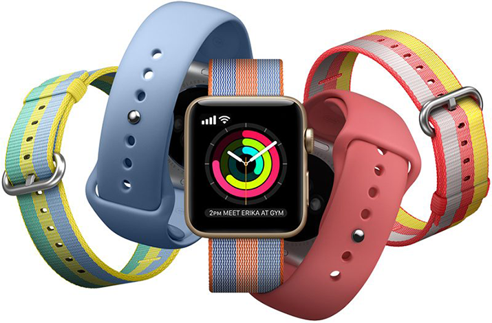 Set 2+1 Gratis, Curele Apple Watch iUni 38 mm Silicon Sport Blue, Soft Pink, Red