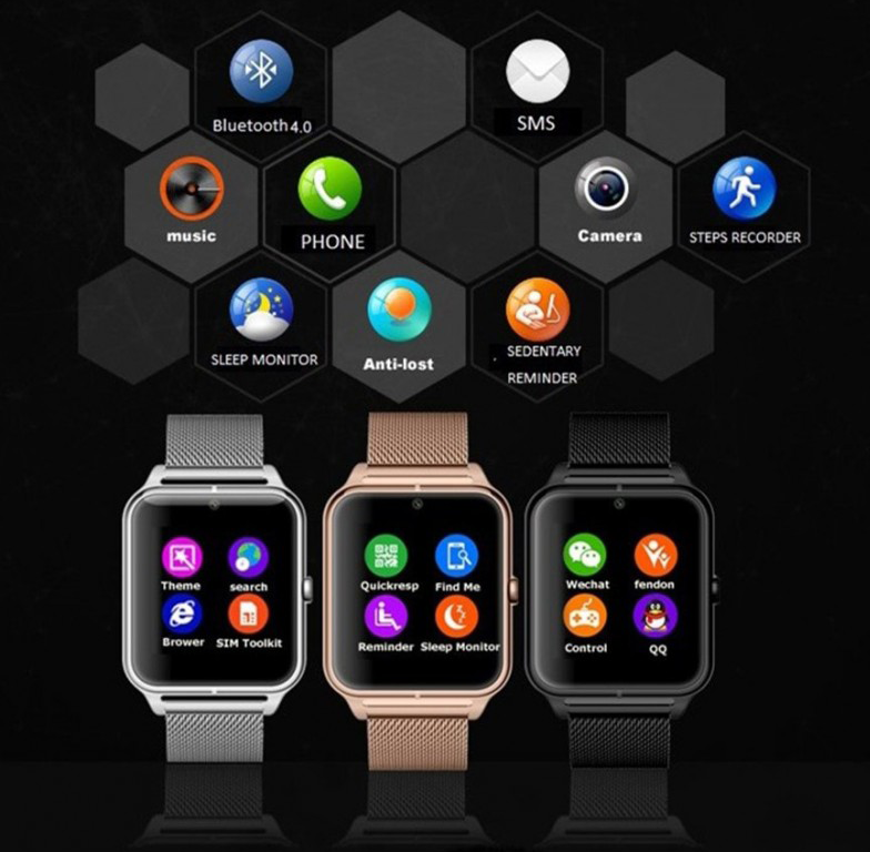 smartwatch cu telefon si notificari Z60 - 5