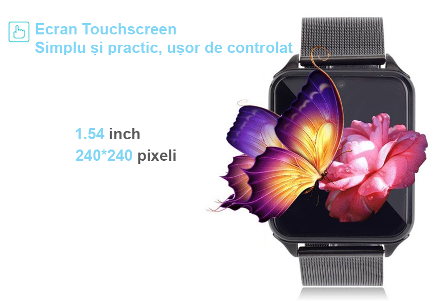 smartwatch iUni gt08s plus metalic cu camera foto